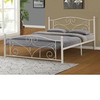 Home Source Vandorn White Metal Queen-size Bed