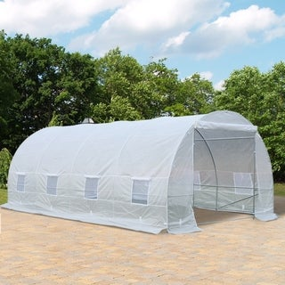 Link to Outsunny Freestanding High Tunnel Walk-In Garden Greenhouse Kit Similar Items in Gardening