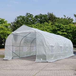 Outsunny Deluxe High Tunnel Walk-In Garden Greenhouse Kit