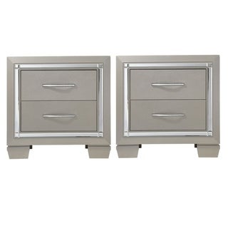 Lawlor Mirrored 2-drawer Nightstand
