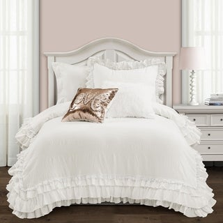 Link to Silver Orchid Gerard Shabby Chic Ruffle Lace Comforter Set Similar Items in Comforter Sets