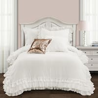 Lush Decor Ella Shabby Chic Ruffle Lace Comforter Set