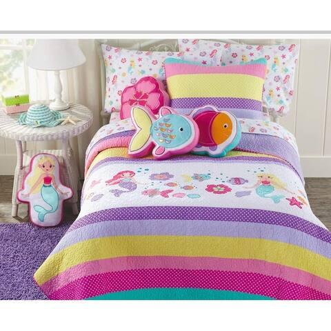 Cozy Line Mermaid Reversible Cotton Quilt Set