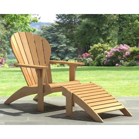 Adirondack Chair and Ottoman