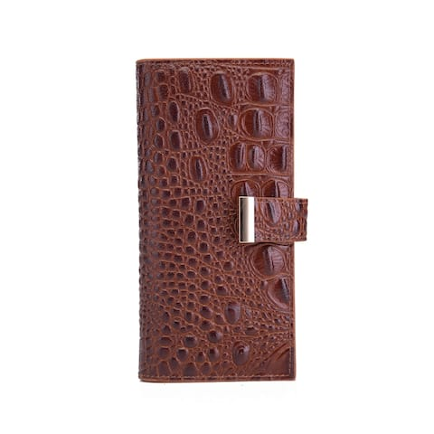 Sasha Croc Leather Wallet - Small
