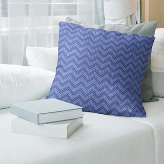 Porch & Den Bayberry Cool Chevron Pattern Throw Pillow
