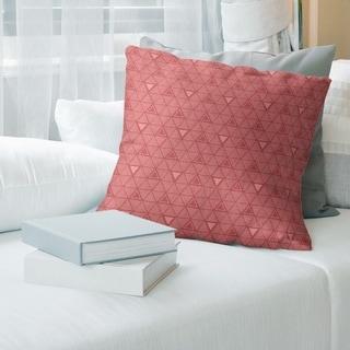 Porch & Den Baldock Warm Monochrome Triangle Pattern Throw Pillow
