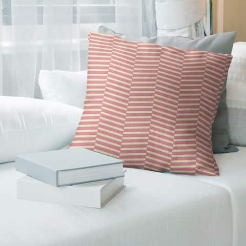 Porch & Den Blaze Tri-color Fractured Stripes Throw Pillow