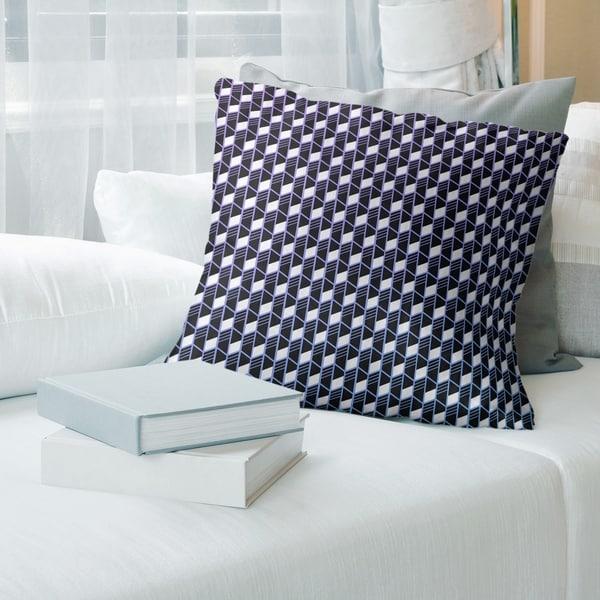 Porch & Den Cleo Ombre Geometric Stripes Throw Pillow