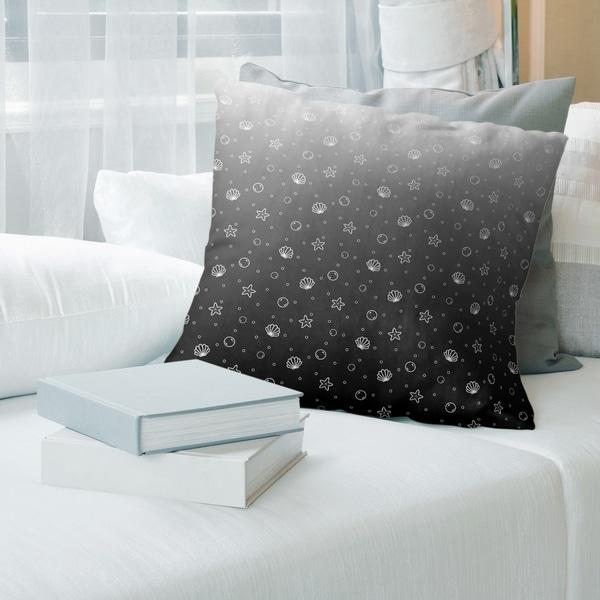 Porch & Den Caffall Seashell Pattern Throw Pillow