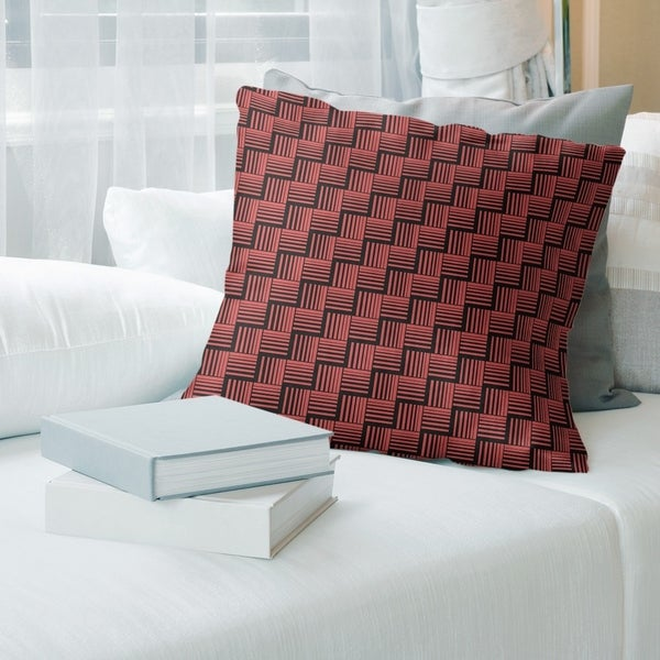 Porch & Den Edgeway Basketweave Stripes Throw Pillow