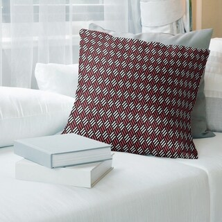 Porch & Den Fallatin Classic Stripe Diamonds Throw Pillow