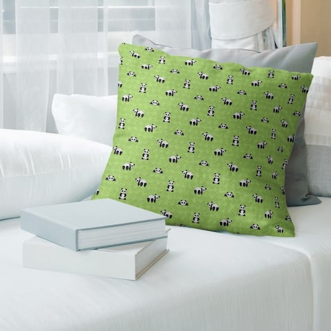 Porch & Den Bauman Panda Pattern Throw Pillow