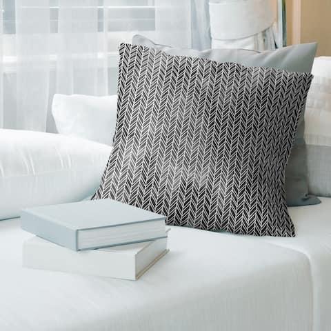 Porch & Den Agaard Herringbone Pattern Throw Pillow