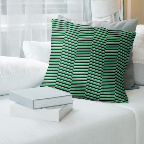 Porch & Den Blaze Fractured Stripes Throw Pillow