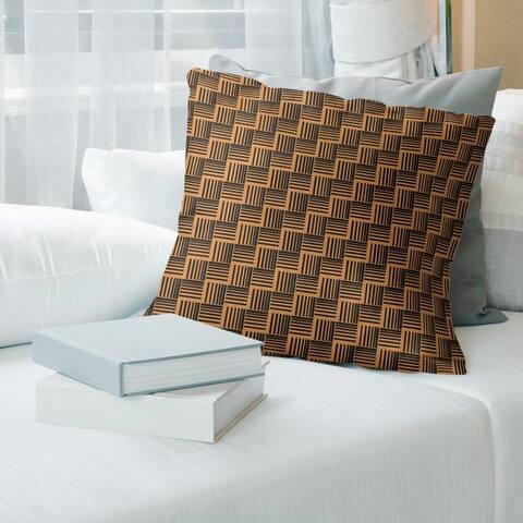 Porch & Den Edgeway Basketweave Stripes Throw Pillow