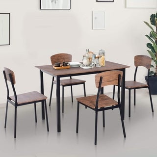 Carbon Loft Leunii 5-piece Modern Counter Height Dining Table and Chairs Set