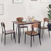 Deals on Carbon Loft Leunii 5-piece Modern Dining Table & Chairs Set