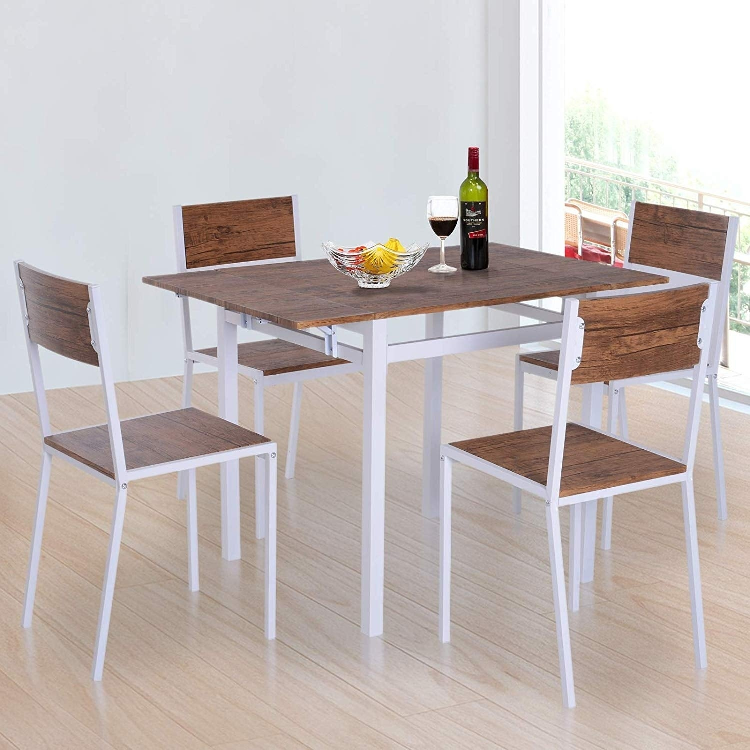 Silver Dining Table And Chairs, Shop 5 Piece Drop Leaf Counter Height Dining Table And Chairs Set Overstock 28288349