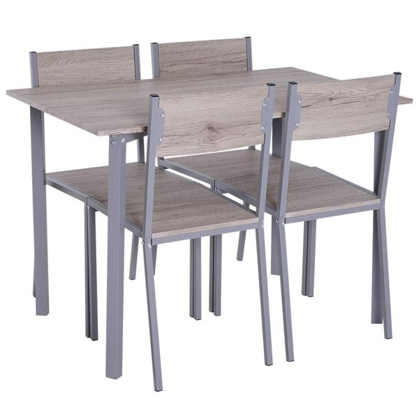 Excellent Shop Homcom 5 Piece Modern Compact Kitchen Dining Room Table Andrewgaddart Wooden Chair Designs For Living Room Andrewgaddartcom