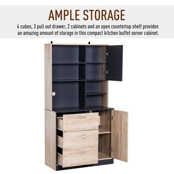 Shop Carbon Loft Smothers 67-inch Kitchen Buffet Cabinet ...