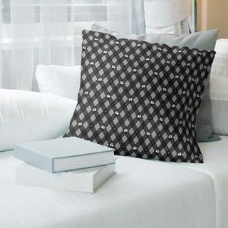 Porch & Den Aidan Argyle Skulls Pattern Throw Pillow