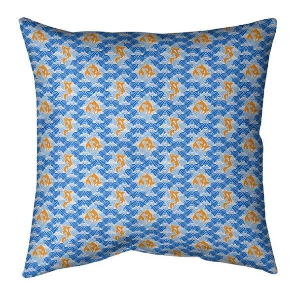 Shop Porch Den Aloma Koi Fish Waves Throw Pillow Overstock 28288995