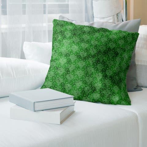Porch & Den Camwall Snakes Pattern Throw Pillow