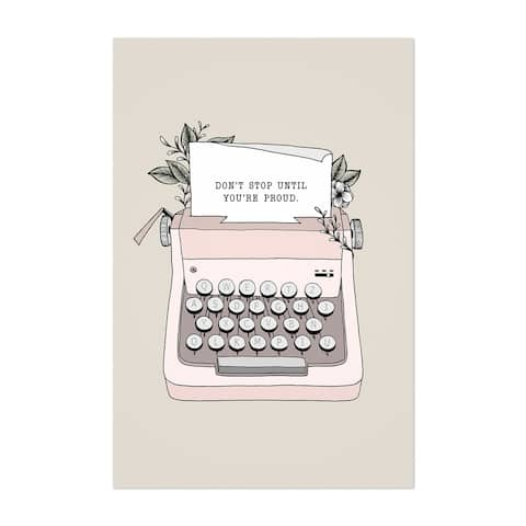 Noir Gallery Typewriter Motivational Quote Unframed Art Print/Poster