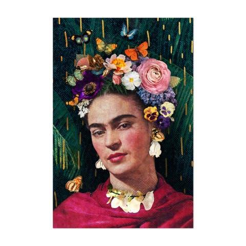 Noir Gallery Frida Kahlo Floral Portrait Unframed Art Print/Poster