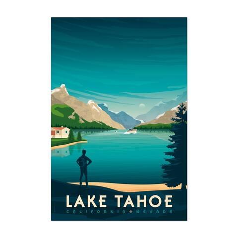 Noir Gallery Vintage Lake Tahoe Travel Print Unframed Art Print/Poster