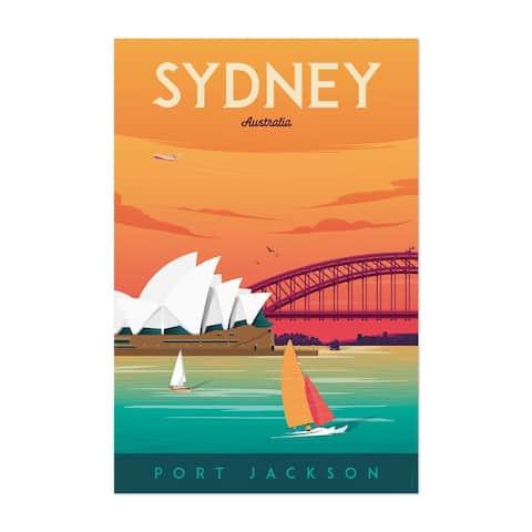 Noir Gallery Retro Sydney Travel Print Unframed Art Print/Poster
