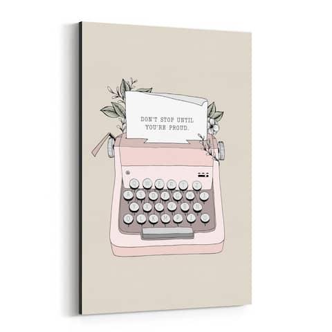 Noir Gallery Typewriter Motivational Quote Canvas Wall Art Print