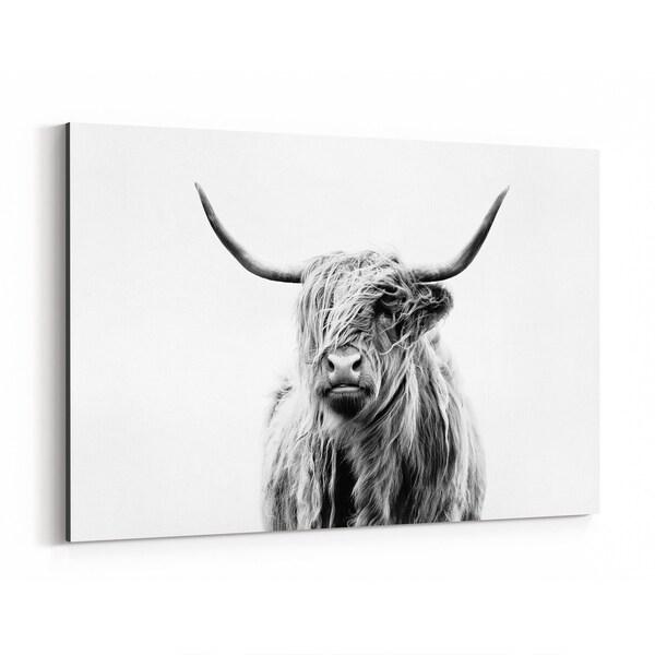 Noir Gallery Highland Cow Scotland Photo Canvas Wall Art Print