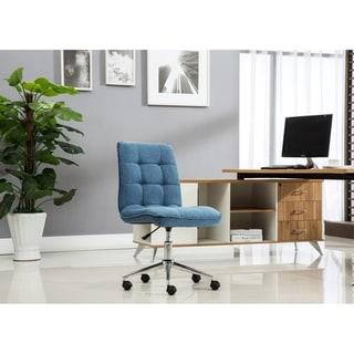 Porthos Home Lada Adjustable Swivel Office Chair, Linen Upholstery