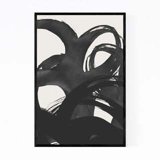 Noir Gallery Abstract Black Brush Strokes Framed Art Print