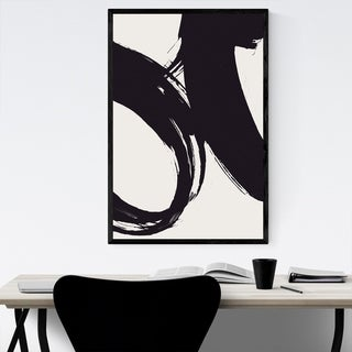 Noir Gallery Abstract Black Brush Strokes Framed Art Print