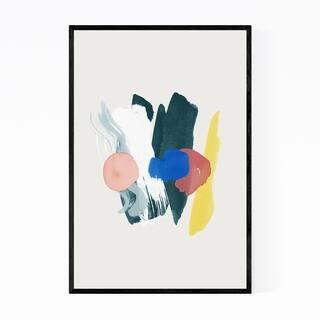Noir Gallery Abstract Minimal Organic Shapes Framed Art Print