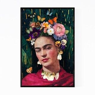 Noir Gallery Frida Kahlo Floral Portrait Framed Art Print