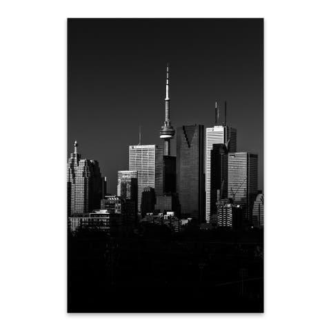 Noir Gallery Toronto Skyline Cityscape Urban Metal Wall Art Print