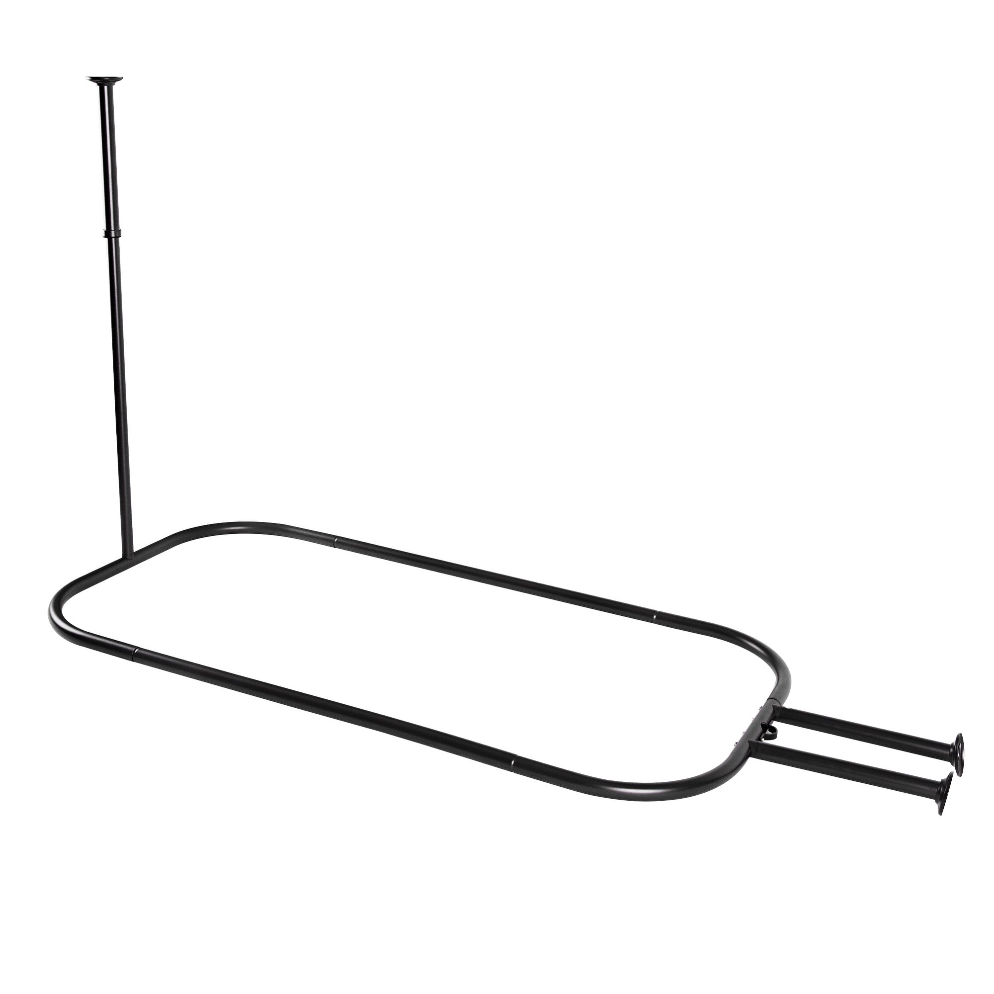 Utopia Alley Hoop Shower Rod For Clawfoot Tub Black