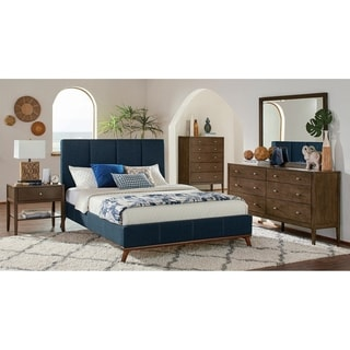 Alden Ash Brown 4-piece Platform Bedroom Set with 2 Nightstands