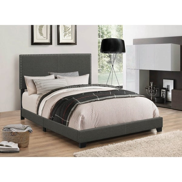 Amherst Charcoal and White 5-piece Upholstered Bedroom Set