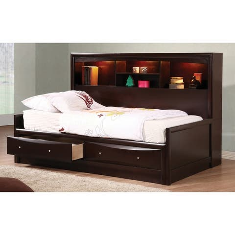 Vanessa Cappuccino 3-piece Storage Bedroom Set with Chest