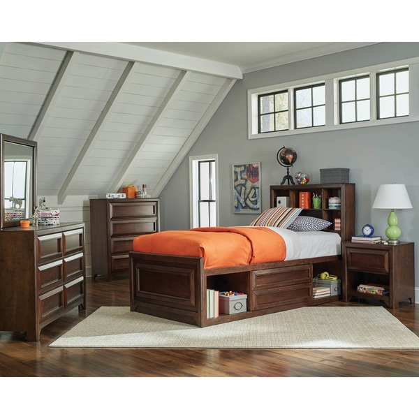 Cassidy Maple Oak 3-piece Storage Bedroom Set with Dresser