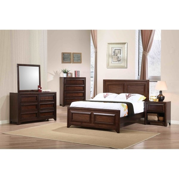 Cassidy Maple Oak 6-piece Panel Bedroom Set. Opens flyout.