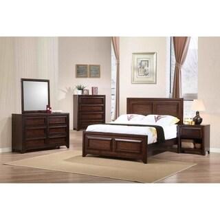 Cassidy Maple Oak 5-piece Panel Bedroom Set with 2 Nightstands