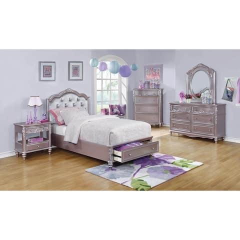 Seraphina Metallic Lilac 6-piece Storage Bedroom Set