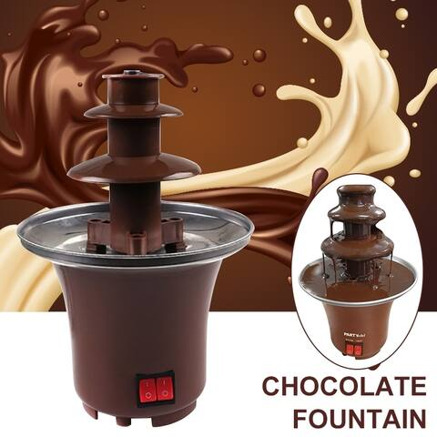 3 Tier Stainless Steel Chocolate Fountain Machine Electric Chocolate Melter Fondue Fountain for Wedding Kids Restaurant Party