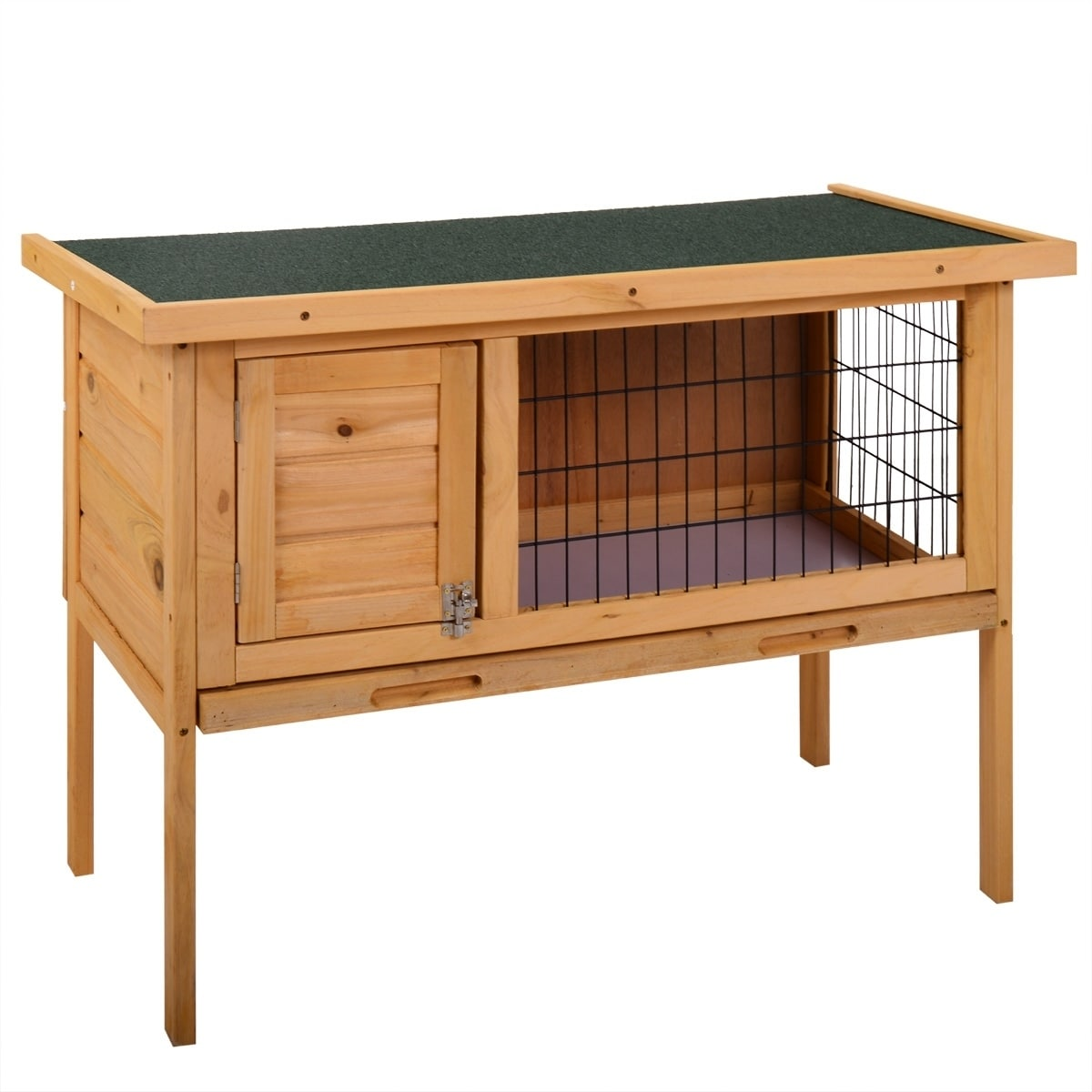 Leisure Zone wooden hutch for small animals (Brown)
